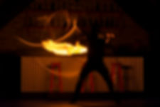 Fire Show in Theater