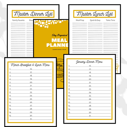 MEAL PLANNER - YELLOW