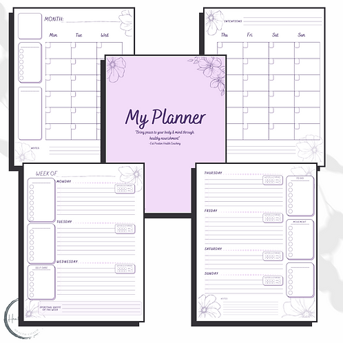 Undated Yearly Wellness Planner
