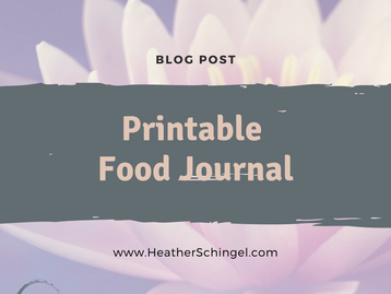 Printable Food Tracker - Health Coach or Personal Use