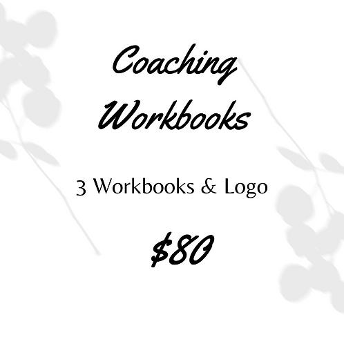 3 Coaching Workbooks & Logo