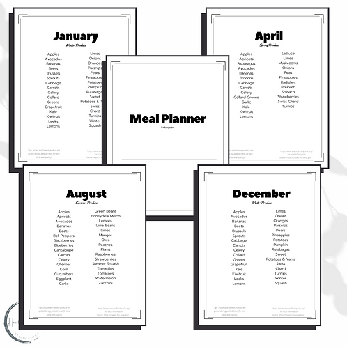 Complete Meal Plan Planner
