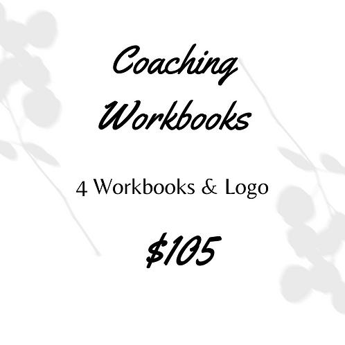 4 Coaching Workbooks & Logo