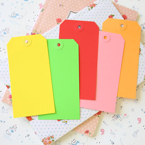 wg large colour luggage gift tags