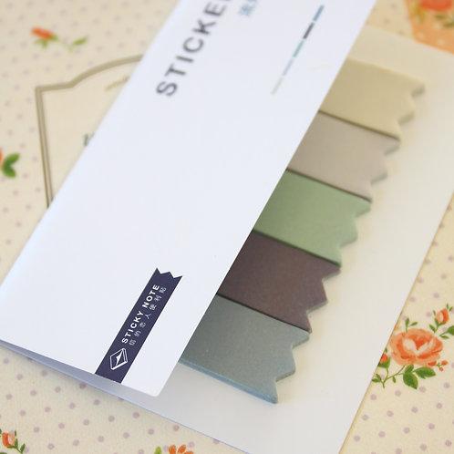 08 grey beige four season colour sticky notes tabs