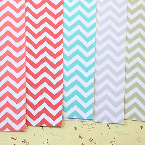 set 04 chevron art mix printed card stock