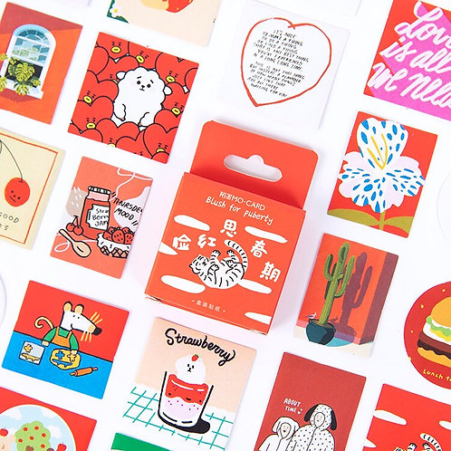 red life adventure mo-card cartoon shapes stickers