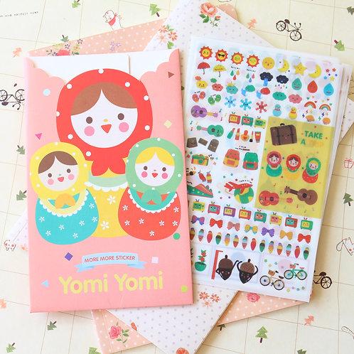 yomi yomi more more cartoon deco stickers