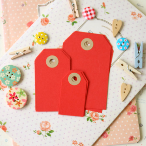postbox red papermill series luggage gift tags