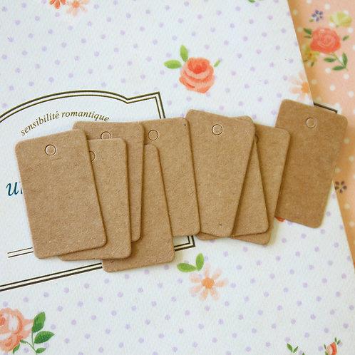 mini rectangle kraft brown tags