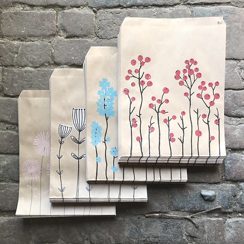 east of india large floral printed paper bags