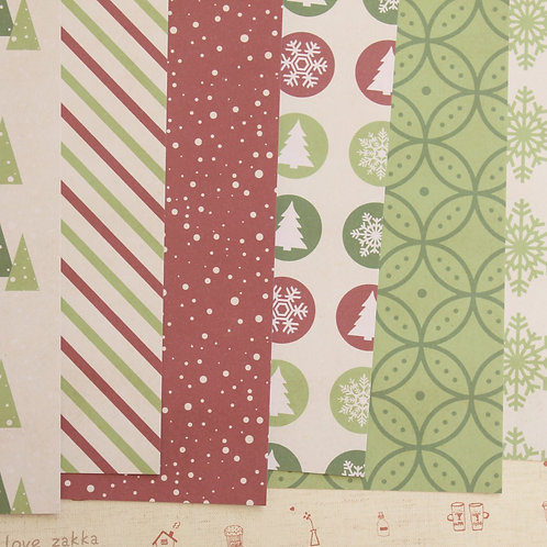 set 02 christmas is here mix printed card stock