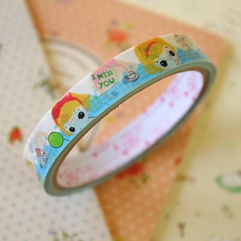 little girl medium cartoon deco tape