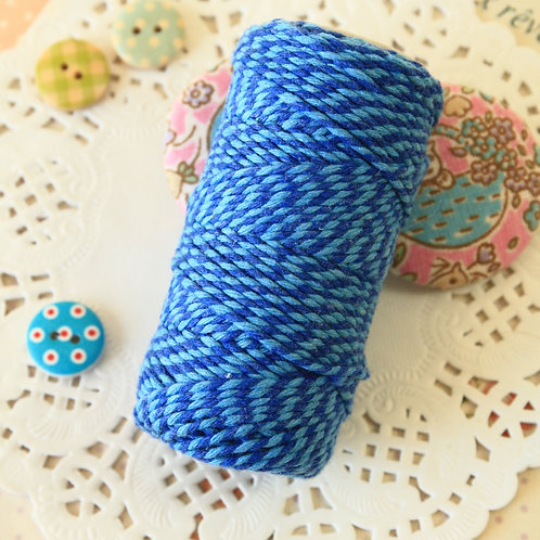 oxford & sky blue two tone everlasto bakers twine 20m