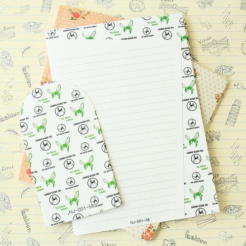 green hornet black & white letter set