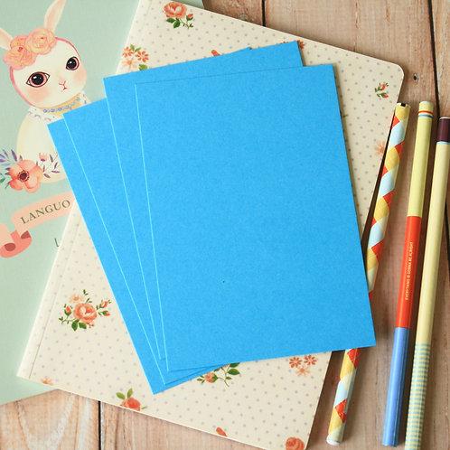 aquamarine blue eco postcard blanks