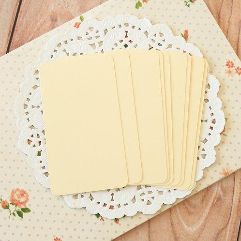 cream blank business cards