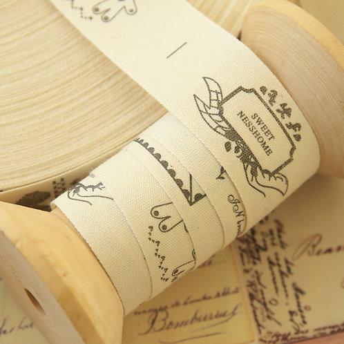 sweet home cartoon cotton sewing tape ribbon