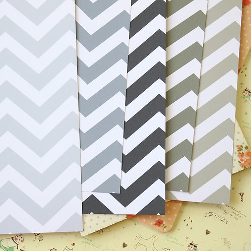 grey mix fat chevron printed card stock