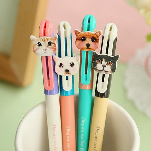 best friends cat & dog cartoon pens