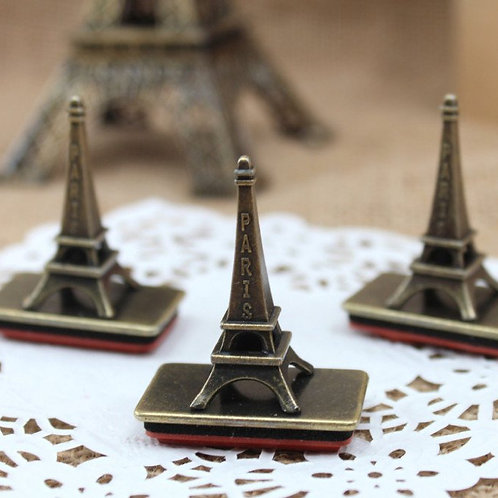 iron eiffel tower retro seal rubber stamp