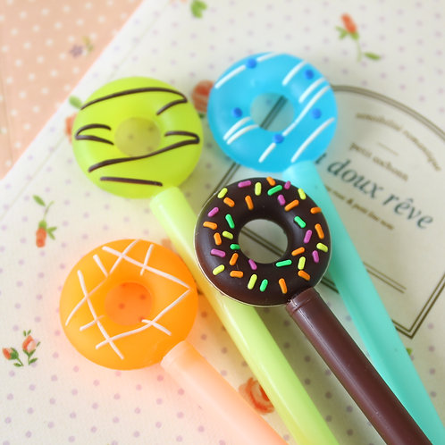 frosted donut cute cartoon pens