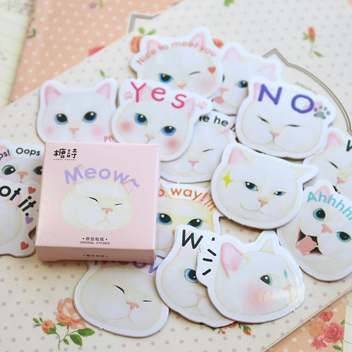 meow cat candy poetry cartoon cute shapes stickers
