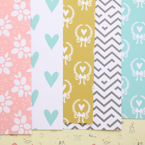 set 01 country charm mix patterns printed card stock