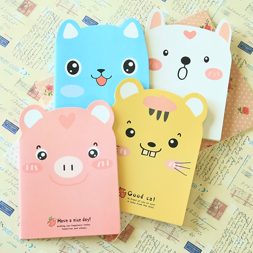 cute animals shaped cartoon notebook