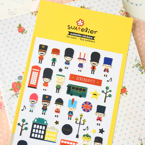 suatelier toy soldiers cartoon stickers