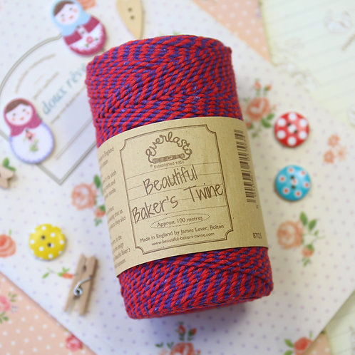 red violet everlasto two tone bakers twine