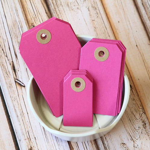 magenta pink colour luggage tags