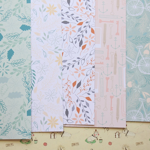 set 11 japanese forest mix printed card stock
