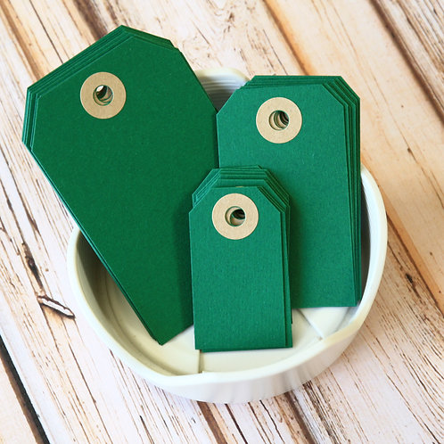 holly green colour luggage tags