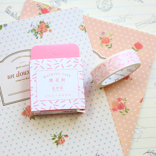 pink confetti cardlover simple series washi tape