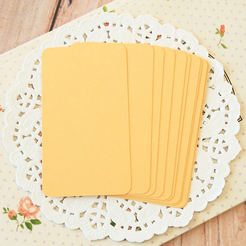 maize yellow blank business cards