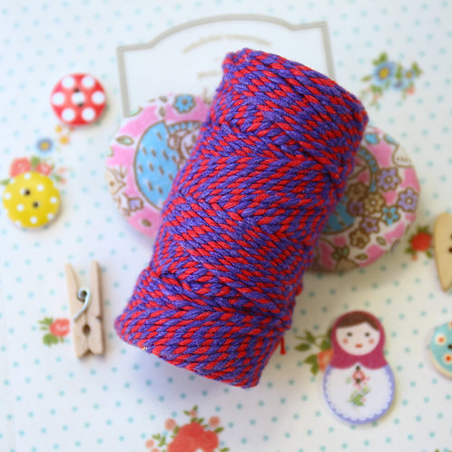 red & violet two tone everlasto bakers twine 20m