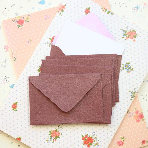 bronze ore textured mini envelopes & notecards