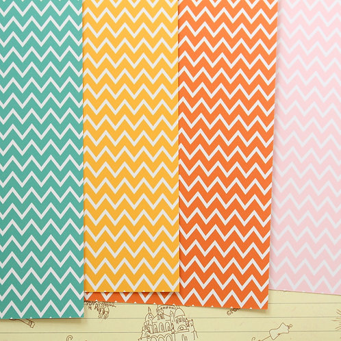 set 03 fine chevrons mix printed card stock
