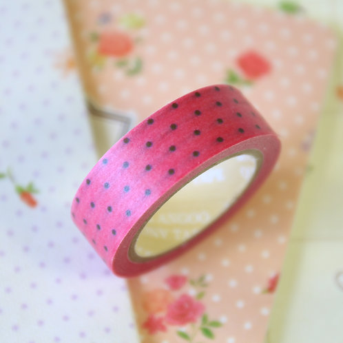 dotty pink washi tape