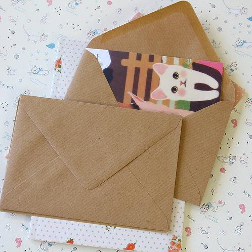 ribbed brown kraft c6 banker envelopes