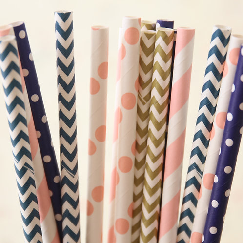 sailor girl mix paper straws