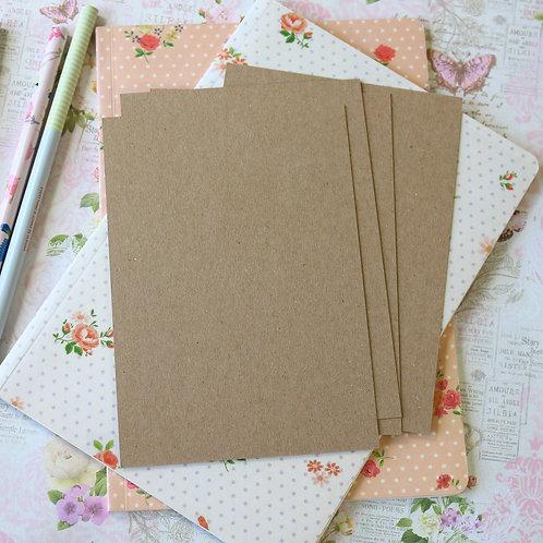 eco kraft brown 250gsm postcard blanks