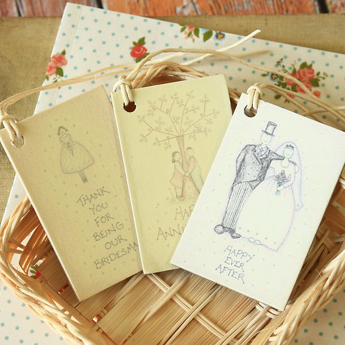 east of india printed wedding gift tags