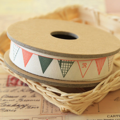 buntings flags cartoon cotton sewing tape ribbon