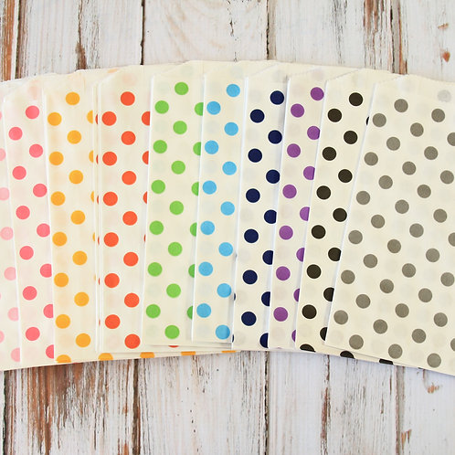 polka dots middy bitty paper bags