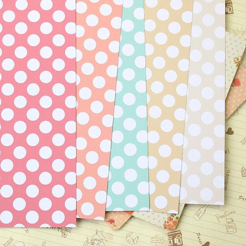 fun dots printed card stock