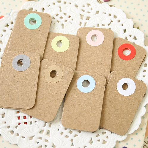 plain kraft brown rounded rectangle tags