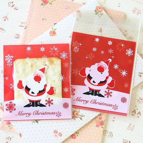fat santa christmas cartoon plastic bags