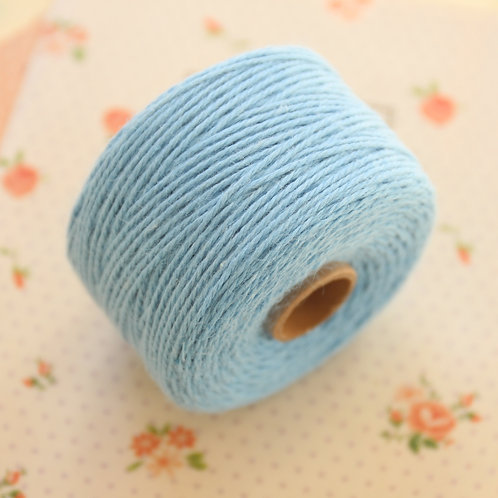 light blue twisted cotton bakers twine 80m